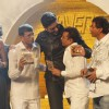 Abhishek and Sonam with Director Abbas-Mustan at Music launch of film 'Players' at Juhu in Mumbai