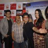Saurabh Shukla with Vinay and Neha promote their film 'Pappu Can't Dance Saala' at Riyaj Ganji Libas