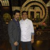 Sanjeev Kapoor and Maryada main lead on the sets of Master Chef at RK Studios. .