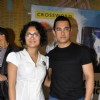 Aamir Khan with wife Kiran Rao launches DVD of their film DHOBI GHAT at the Crossword store in Mumbai