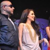 Vishal Dadlani and Neha Dhupia performing at Seduction 2012 for New Year Eve at Hotel Sahara Star