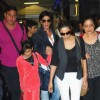 Shah Rukh Khan with wife Gauri and Kids snapped at Airport returns from their vacation
