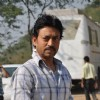"Irrfan Khan on the set of ""Pranam Walekum"" in Mumbai"