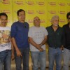 "Naseeruddin Shah with the star cast of ""Chaalis Chaurasi"" at Radio Mirchi in Parel"