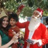 Shiney Ahuja with Claudia Ciesla turns Santa at Andheri