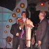 Amitabh Bachchan and Sonu Niigam at the IDMA conference held in lailt Hotel, Mumbai