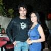 Show lead Anas and Deepika at 100th episode success party of 'Diya Aur Baati Hum' at hometown cafe