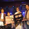 "Kailash Kher poses with Amitabh Bachchan during the release of his new album ""Kailasha Rangeele"""