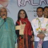 "Shabana, Javed Akhtar and Gulshan pose during the DVD launch for Hindi film ""I am Kalam"" in Mumbai"