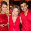 Amit and Jaswir with Tao Porchon at Sandip Soparkar show 'Ageless Dance' at Sheesha Lounge in Andher