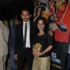 "Atul Kulkarni with wife Mrinal at Premiere of film ""Chaalis Chauraasi"" in Cinemax, Mumbai"