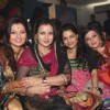 Deepshikha with Poonam Dhillon, Delnaaz Paul in her Mata Ki Chowki at Blue Waters