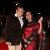 Parag Desai with wife grace Deepshikha Nagpal and Kaishav Arora wedding reception in Mumbai