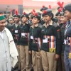 Defence Minister AK Antony with cadets at the NCC Republic Day Camp 2012 in New Delhi