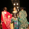 Leading models on the ramp for Essence of Kashmir show at Marine Plaza. .