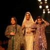 Leading model on the ramp for Essence of Kashmir show at Marine Plaza. .