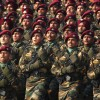 Parachute Regiment contingent at the Republic Day Parade-2012, in New Delhi
