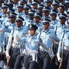 The Indian Air Force contingent at the Republic Day Parade-2012, in New Delhi