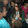 Vidya Balan promotes her movie 'Kahaani' at Khar Station