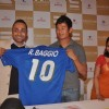 Baichung Bhutia and Rahul Bose at sports memorabilia auction, Trident
