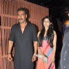 Ajay Devgan and Tanisha at Sanjay Dutt's bash for Agneepath