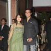 Keerti & Sharad Kelkar at Ritesh & Genelia Sangeet ceremony at Hotel TajLands End in Mumbai