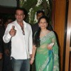 Sanjay Dutt with Manyata at Ritesh & Genelia Sangeet ceremony at Hotel TajLands End in Mumbai
