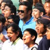 "Sports legends Leander Paes at the ""Fit India Come N' Play Day"" event, in New Delhi"