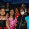 Madhuri Dixit Nene interacts with Cancer affected little patients on World Cancer Day organised by Pawan Hans at Juhu, Mumbai