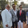 Vijay Mallya, Abhay Deol and Siddharth Mallya at Mcdowell Signature Derby day 1 in RWITC