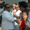 Satish Kaushik at Raj Kanwar's funeral meet in Oshiwara on 5th Feb 2012