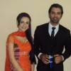 Barun and Sanyaa on the sets of Iss Pyar Ko Kya Naam Doon.