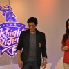 Bollywood Actors Shahrukh Khan & Juhi Chawla with husband Jai Mehta at the announcement of KKR Marketing Campaign in Mumbai