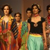 Models displays  creations by designer Anupama Dayal at the Wills Lifestyle India Fashion week 2012,in New Delhi on Wednesday. .