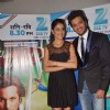 Genelia D'Souza and Ritesh Deshmukh on the sets of Dance India Dance. .