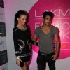 Prateik and Amy at Lakme fashion week opening bash at Blue Frog. .