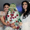 Mouni Roy and Aamna Shariff with Sanjeeda at Aamir Ali and Sanjeeda Sheikh's wedding