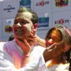 Rahul Mahajan and Dimpy at Zoom Holi bash