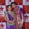Giaa Manek and Mohammad Nazim at STAR Parivaar Awards Red Carpet