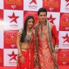 Vishal Singh and Rucha Hasabnis at STAR Parivaar Awards Red Carpet