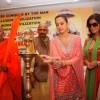 Zeenat Aman and Priti Jhangiani with Jagat Guru Shankaracharya at the launch of film & Vishwa Manav Jagran Manch a NGO in Mumbai