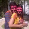 Juhi Parmar and Saching Sharma playing holi