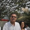 Vinod Khan at Mona Kapoor's funeral at Pawan Hans