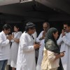 Boney Kapoor, Anil Kapoor and Ranjit at Mona Kapoor's funeral at Pawan Hans