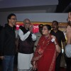 Vidhu Vinod Chopra, Sharman Joshi with L K Advani at premiere of film Parinda at PVR