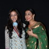 Bollywood actress Vidya Balan and Raima Sen at Parineeta screening at PVR. .