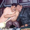 Akshay Kumar and Mithun Chakraborty on the sets of Dance India Dance to promote Rowdy Rathore