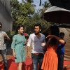 Dia Mirza, Jackky Bhagnani and Nidhi Subbaiah during the Mahurat of Movie �Ajab Gazabb Love�