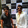 Rajeev Khandelwal and Rajesh Khattar at launch of Monarch Universal corporate office at Navi Mumbai