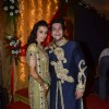 Taneesha Verma with Bappa Lahiri at their sangeet ceremony held last night